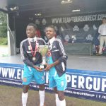 akuba and noah with trophy